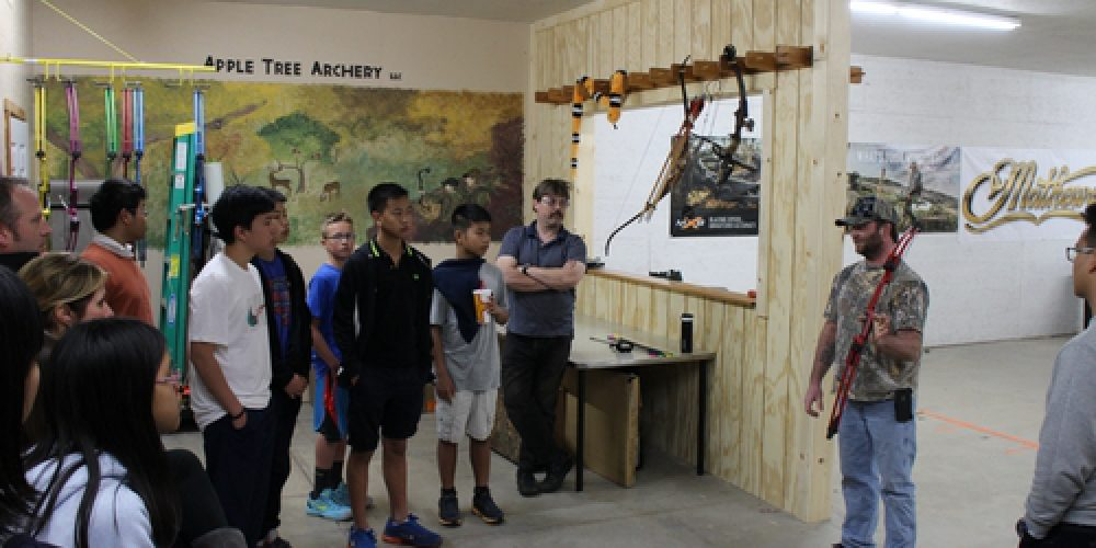 Another busy day, Visit Praewa School, Archery Shooting