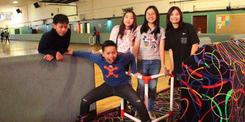 9 April 2019 – Visit Pladaow n Phumjai at school, Roller skate!